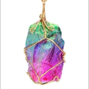 Jewelry - Natural Stone Crystal Charm